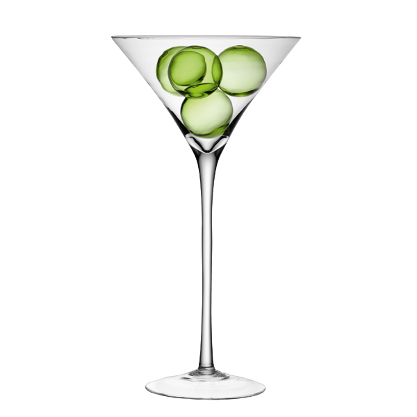 Buy oversized martini glasses table centrepiece