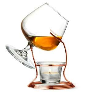 copper brandy glass